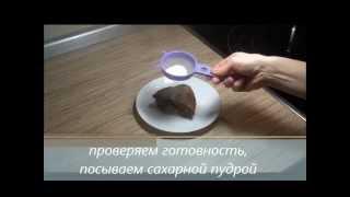 Шоколадная шарлотка с бананами / Простые вещи