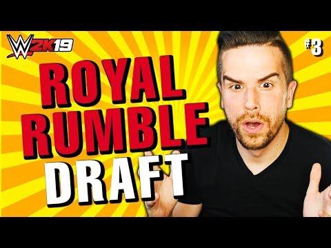 WWE 2K19 ROYAL RUMBLE DRAFT!! (INSANE ENDING W/ BDE!)