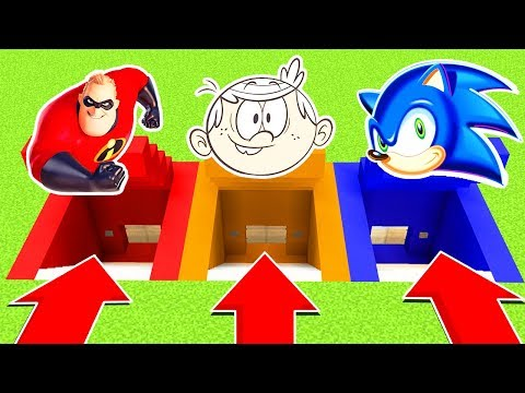 DO NOT CHOOSE THE WRONG SECRET BASE INCREDIBLES 2 LOUD HOUSE SONICPS4XboxOnePEMCPE