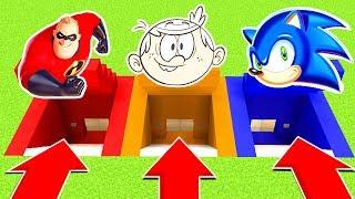 DO NOT CHOOSE THE WRONG SECRET BASE (INCREDIBLES 2 ,LOUD HOUSE, SONIC)PS4/XboxOne/PE/MCPE)