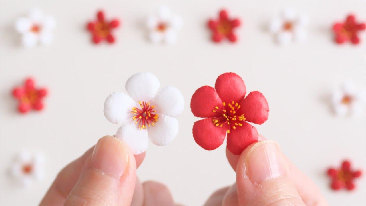 紙で作る梅の花の作り方 - DIY How to Make Paper Plum Blossoms