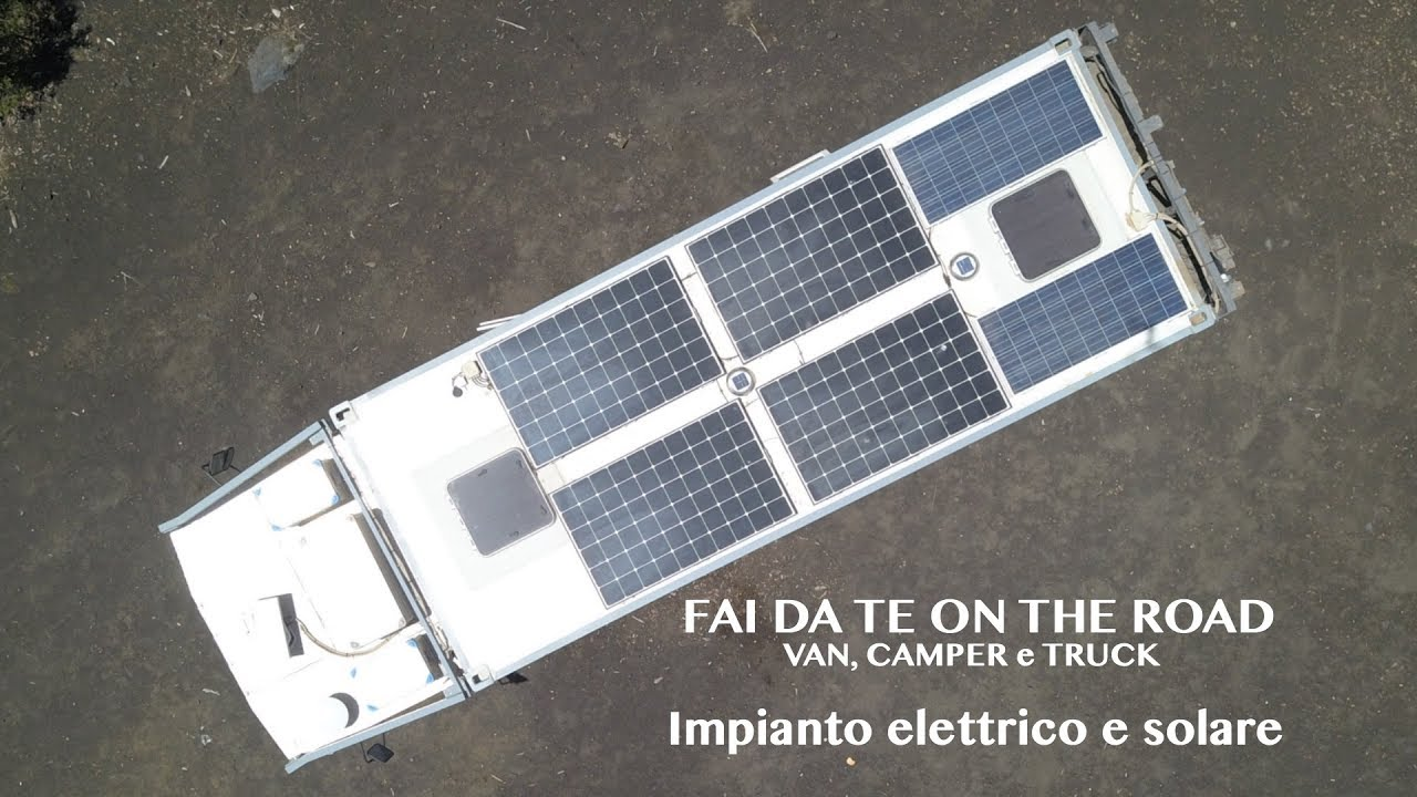 Schema Elettrico Camper : Fai da te camper truck e van impianto elettrico e solare youtube