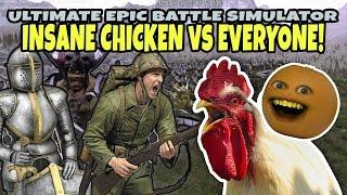 INSANE CHICKEN vs EVERYONE! (Annoying Orange Ultimate Epic Battle Simulator)