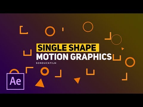 3 Single Shapes Motion Graphic Techniques | After Effects Tutorials