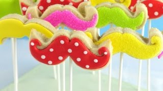 How To Decorate Mustache Cookie Pops