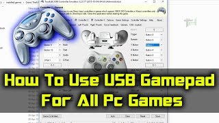 How To Play All Games Using USB PC Gamepad | [Hindi]