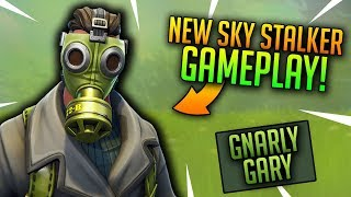 New Sky Stalker Skin Gameplay! Fortnite: Battle Royale - Pro Console Player! Road to 2k!