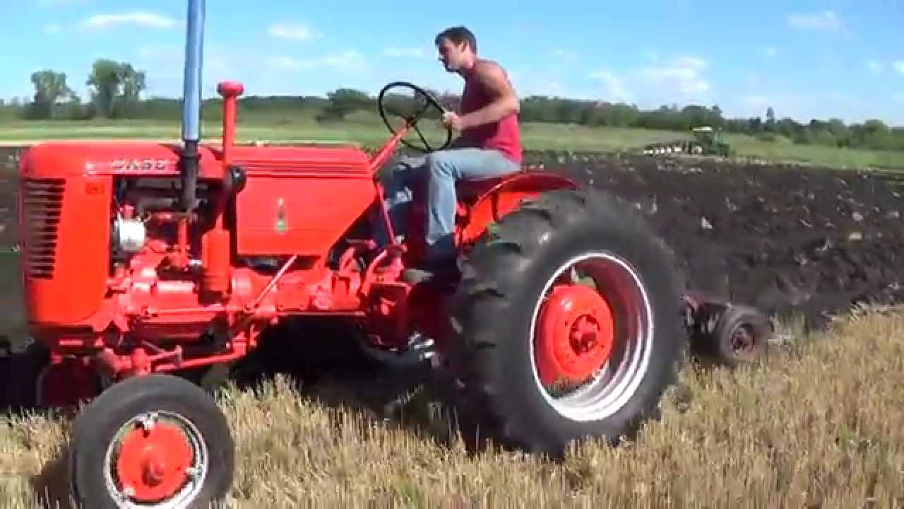 Case Vac Plowing : Stertz farm day xv case vac tractor plows with bottom