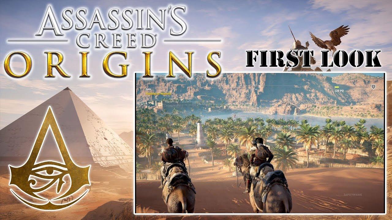 "First Look #74: Assassin's Creed Origins [PS4] – ""Wielbłądem przez świat"" [PL]"