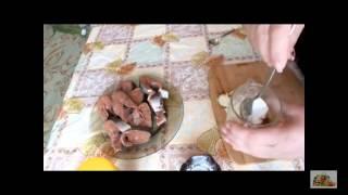 Горбуша жареная в сметанном соусе