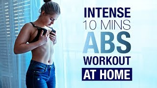 ABS ROUTINE - INTENSE Workout - FAT BURN AT HOME !