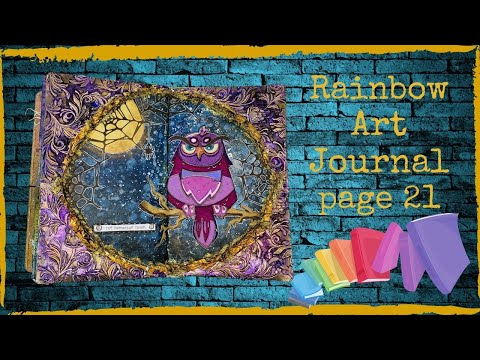 Rainbow Art Journal Page 21 With New Sizzix Colorize Die Set