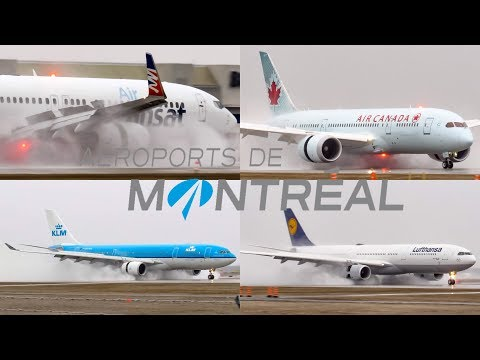 Stormy Arrivals on Runway 06R in Montreal (YUL/CYUL) [Compilation]