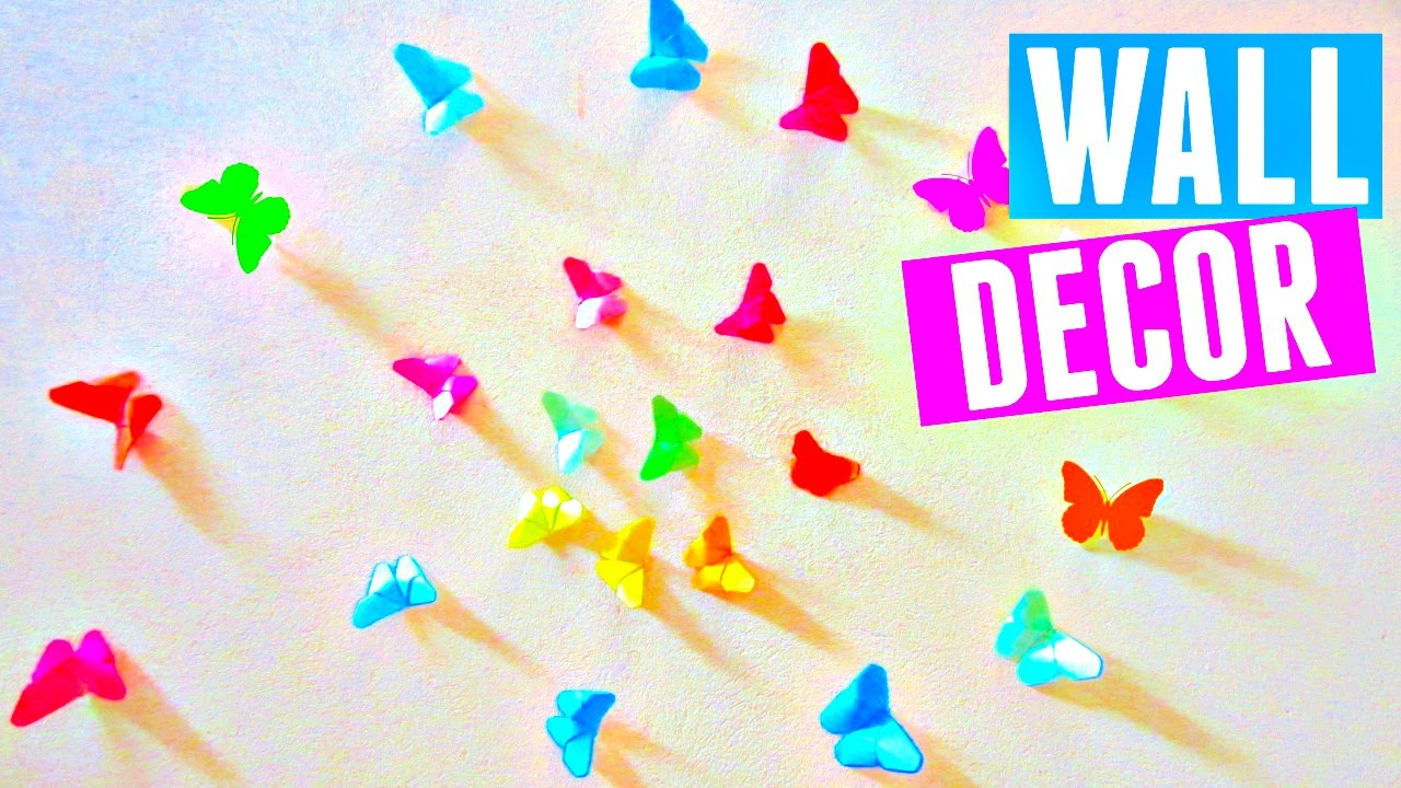 DIY Rainbow Butterfly Room Decor | How to Make an Origami ...
