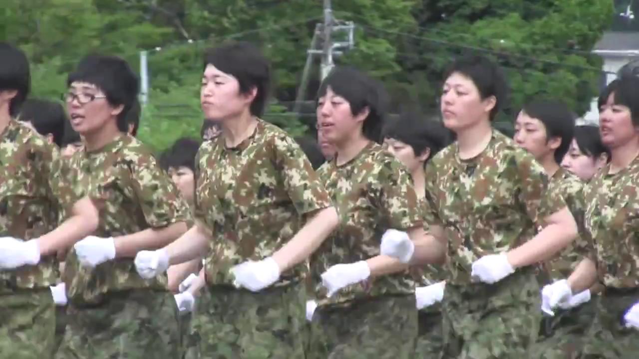 陸上自衛隊 大津駐屯地 女性自衛官 自衛隊体操 2017 - YouTube