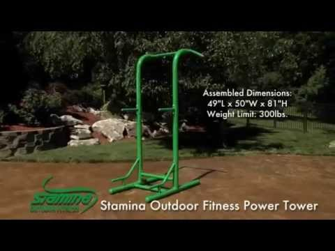 outdoor-workouts.-stamina-outdoor-fitness-power-tower,-review.