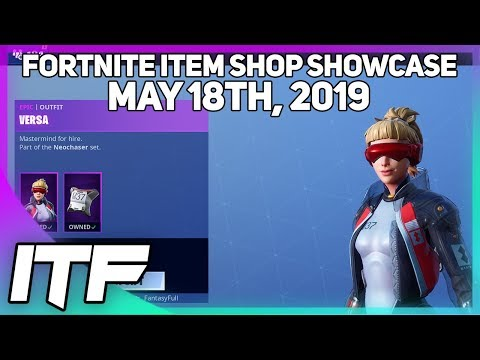Fortnite Item Shop *NEW* VERSA AND ETHER SKIN SET! [May 18th, 2019] (Fortnite Battle Royale)