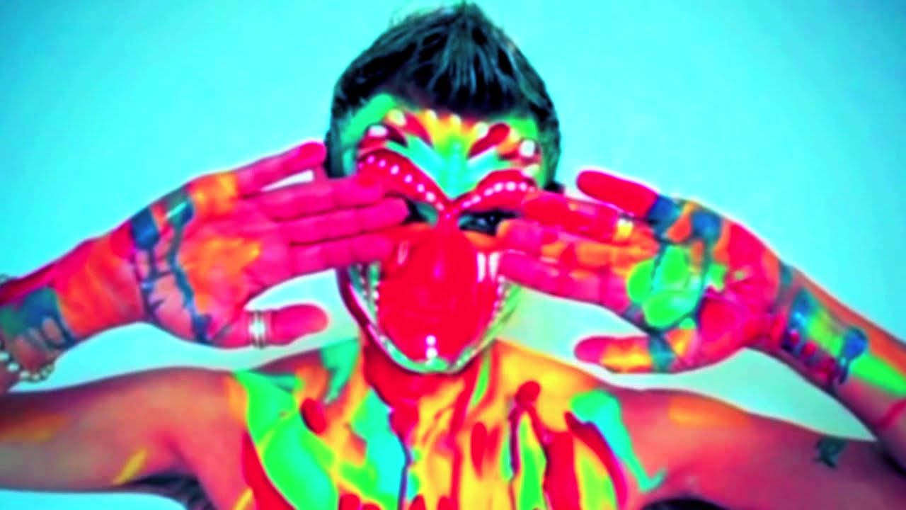 art dance color explosion body painting nk youtube