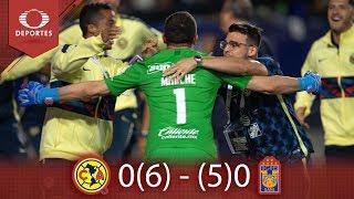 América, Campeón De Campeones | América 0 6 - 5 0 Tigres | Televisa Deportes
