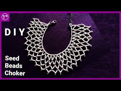 Seed Beads Weaving Choker Necklace Making DIY | Handmade Jewellery Making