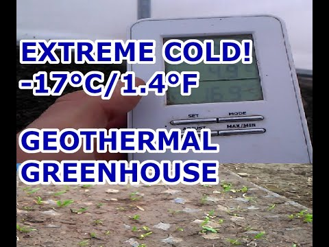 Geothermal Greenhouse - Extreme Cold Update -17°C/1.4°F