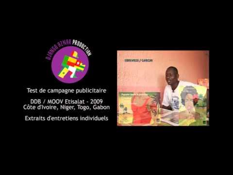 TEST DE CAMPAGNE PUB MOOV NIGER TOGO GABON COTE D IVOIRE