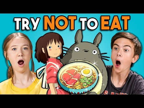 Try Not To Eat Challenge - Anime Food | Teens & College Kids Vs. Food