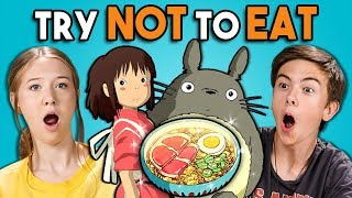 Download Try Not To Eat Challenge - Anime Food | Teens & College Kids Vs. Food Mp3 and Videos