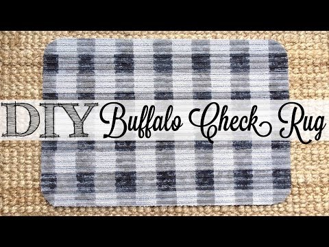 DIY Buffalo Check Rug | Dollar Tree Hack