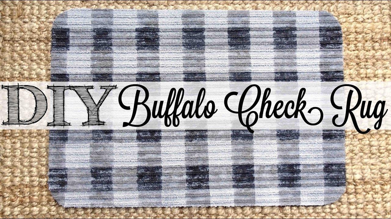 Diy Buffalo Check Rug Dollar Tree Hack