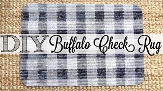 DIY Buffalo Check Rug | Dollar Tree Hack
