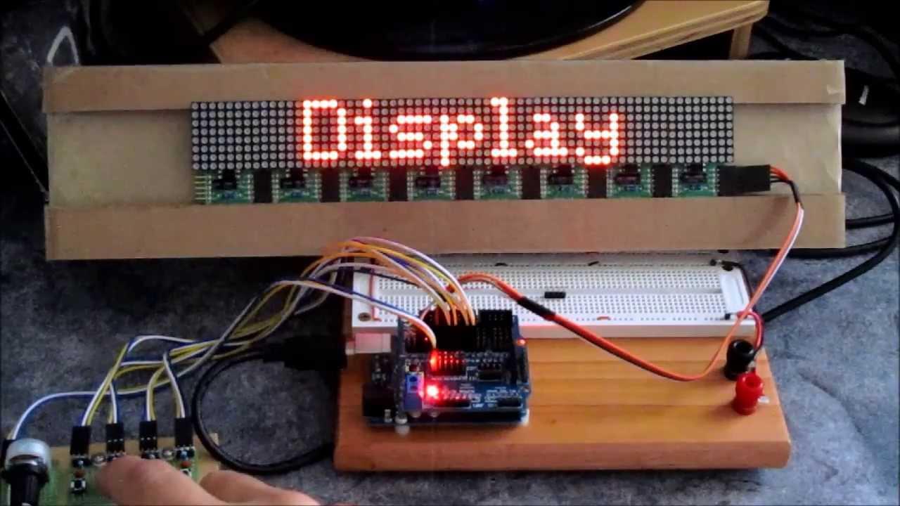 Max7219 dot matrix display 32X8
