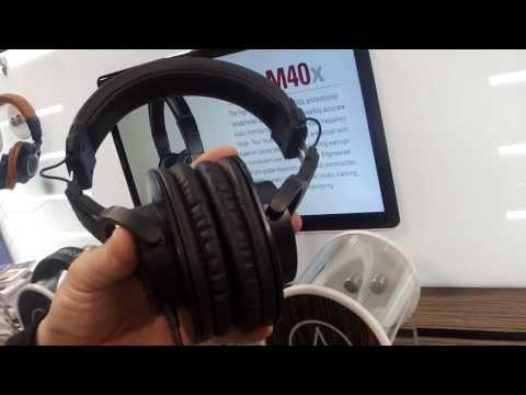 Nova Musik - Audio-Technica ATH-M30x Professional Monitor Headphones At NAMM 2014