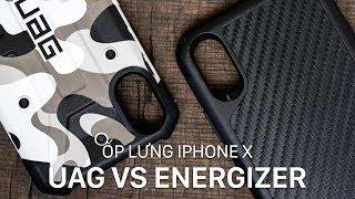 So sánh ốp lưng iPhone X của UAG và Energizer: rất khó chết