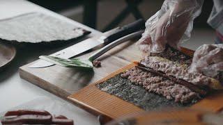 LA vlog l 비오는날 김밥을 만들어 라면과 같이 …