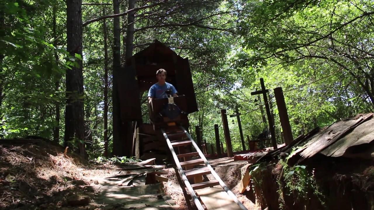 backyard pvc rollercoaster white mountain railroad youtube