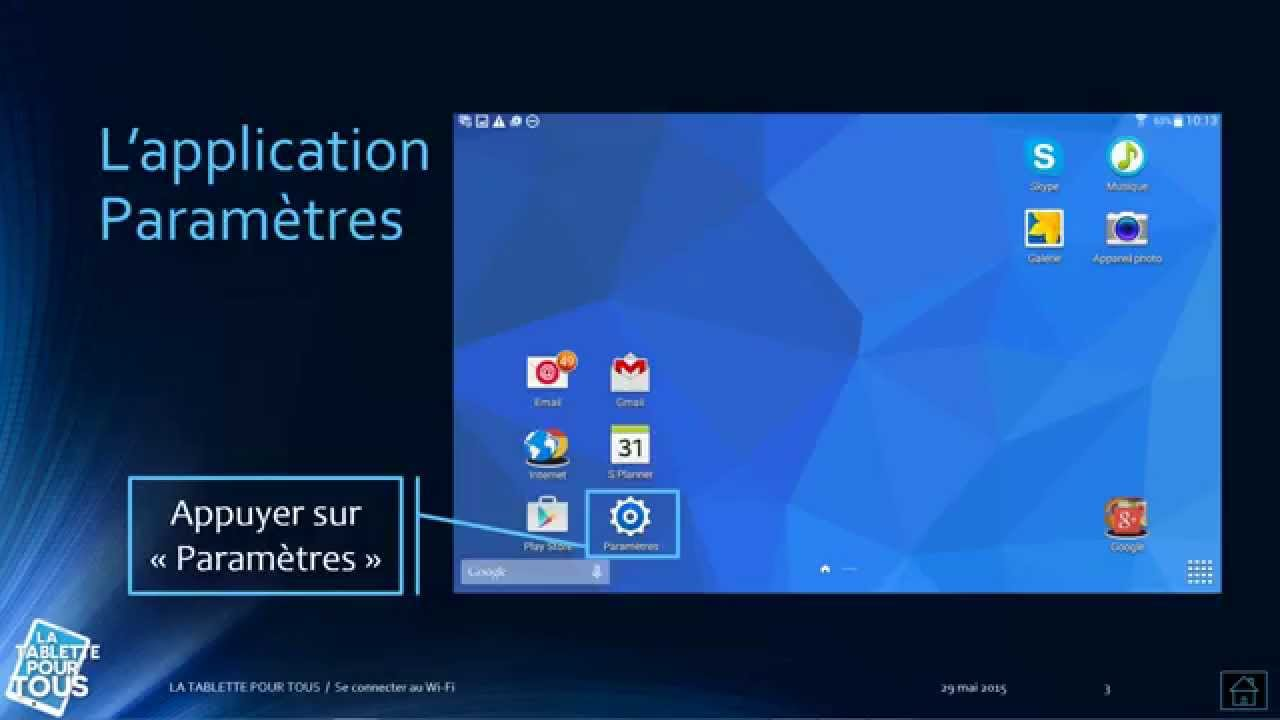 connecter une tablette en wifi free