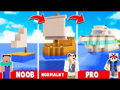 STATEK OD NOOB DO PRO W MINECRAFT! | Vito vs Bella vs Noob thumbnail