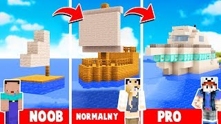 STATEK OD NOOB DO PRO W MINECRAFT! | Vito vs Bella vs Noob