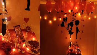 Wedding Anniversary Decoration Ideas at home | Romantic Room Decor Ideas | Valentine Decor ideas