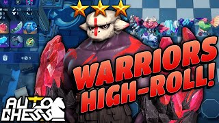 High-Rolling Warriors with Doom 3-Star! | Auto Chess Mobile | Zath Auto Chess 163
