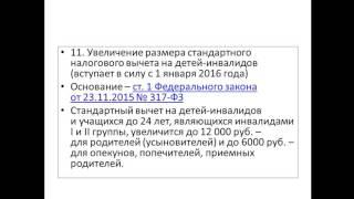 Ефимова Г И  МДК 03 01  УРОК 9 Изменения в налогообложении ИП 2016г