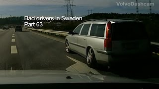 Bad Drivers in Sweden #63 Incidents and brain freeze