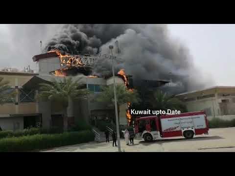 Fire in Hadiya , Kuwait - 23.05.2018