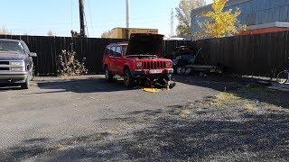 retard s brašnou a oprava brzdového vedení. 2 díl... (Jeep Cherokee)