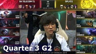 SPY vs SKT - Game 2 | Quarter Finals S9 LoL Worlds 2019 | Splyce vs SK Telecom T1 G2