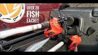 25 FISH DAY!!-Bass Fishing Offshore Grass-13 Fishing Concept Z Test!!!