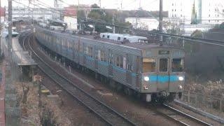 【もうすぐ引退!?】名鉄、名古屋市営地下鉄 3016H 普通|上小田井 米野木発車