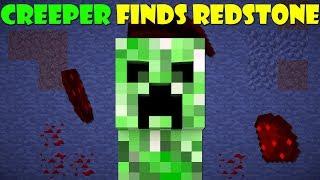 If A Creeper Found Redstone - Minecraft