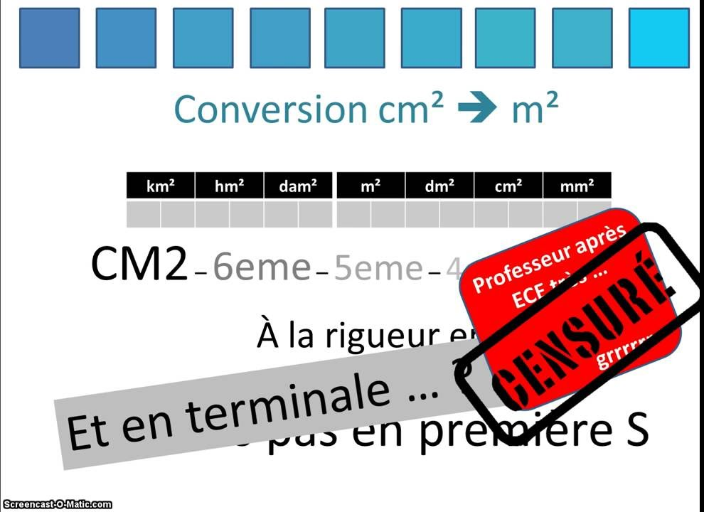 Conversion Cm2 M2 Youtube